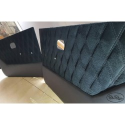 VW Caddy doorcards Suede Bentley stitch